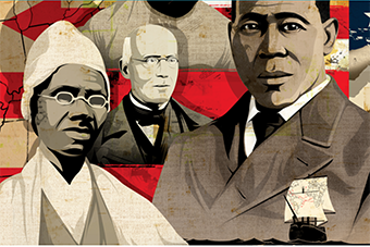Collage of civil rights leaders